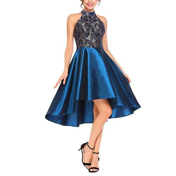 Vestiti Lunghi Eleganti Wish.Women Vintage Lace Dress Elegant Sleeveless Irregular Hem