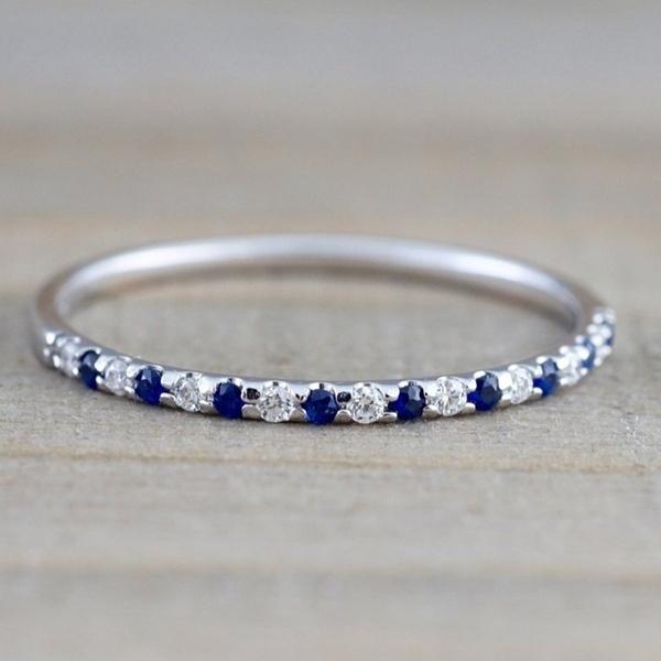 platinum, Sterling, Blue Sapphire, Jewelry