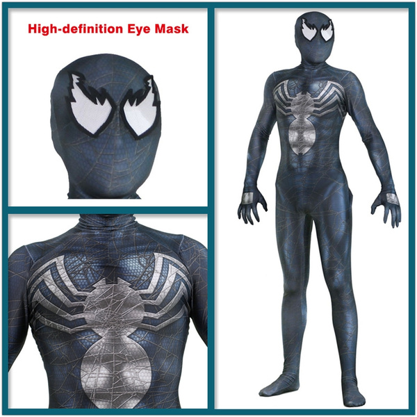 Venom Symbiote Jumpsuit Spider-Man Costume Superhero Suit Cosplay Adult Costume