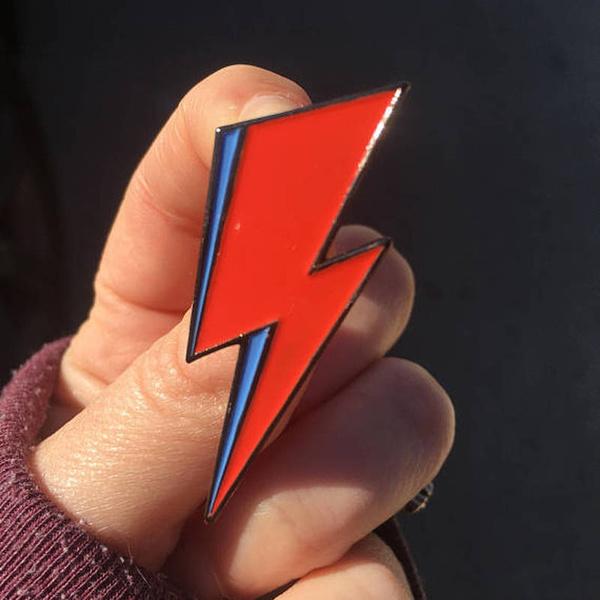 hatpin, Pins, lightningbolt, badgebrooch