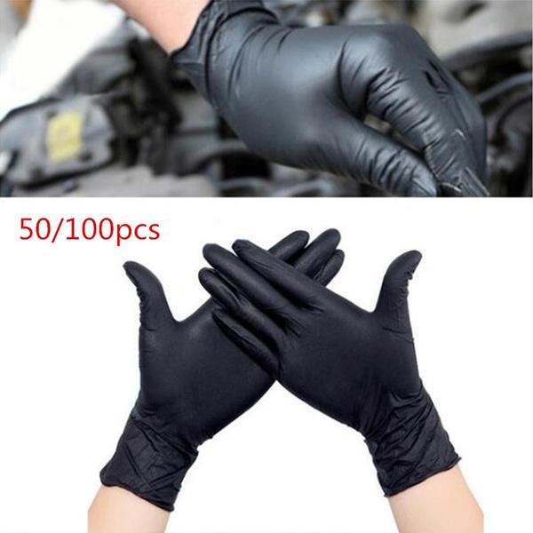 Orange SAS Safety 66573 Astro-Grip Powder‐Free 7 Mil Nitrile Gloves Large