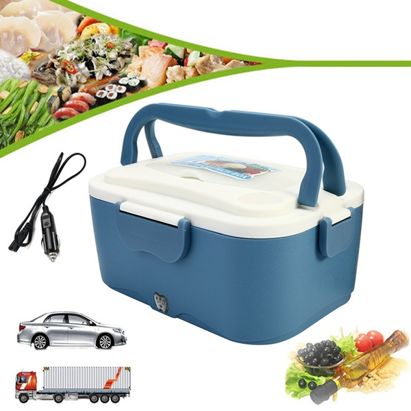 abf7bc59f0a0 Electric Lunch Box Portable 1.5L Car Lunchbox 12V Car 24V Truck Electric  Food Warmer Hot Rice Cooker Traveling Meal Heater