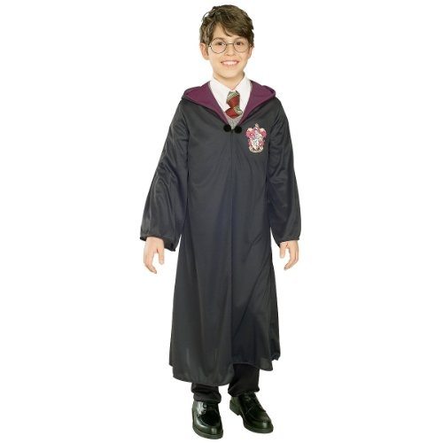 New Harry Potter Childs Costume Robe Wand Glasses Set