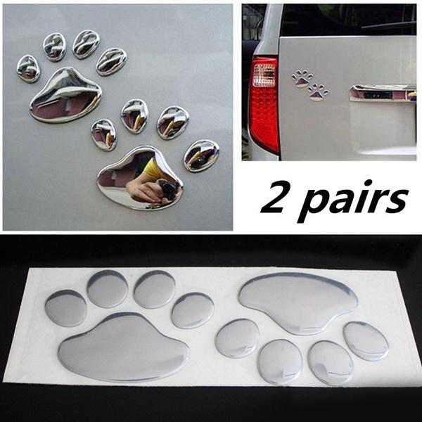 Wish 2 Pair 4pcs Handprint Sticker Paar Kuhlen Design Pfote Auto
