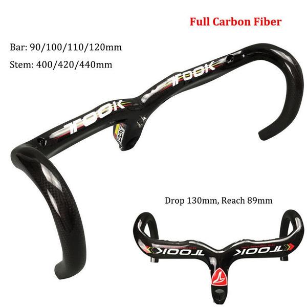 Full Carbon Racing Bike Handlebar T800 Road Bicycle Drop Integrated Stem Bar