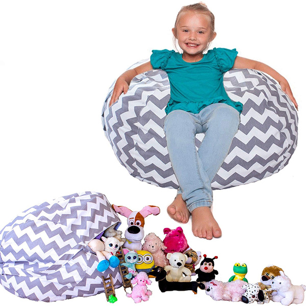 Astounding Lillys Love Chevron Storage Stuffed Animal Bean Bag Chair Grey Get The Popular Chevron Print 3 Is Donated To The Buddy Bench Program Ocoug Best Dining Table And Chair Ideas Images Ocougorg