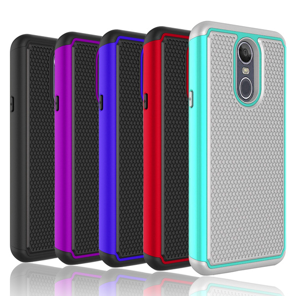 new style 72471 885d4 For LG Stylo 4 Case Hybrid Shockproof Rugged Hard Slim Rubber Armor Phone  Cover