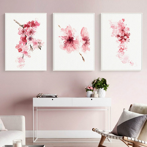 Image result for cherry blossom pink wall art