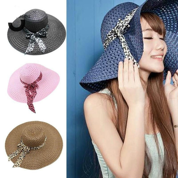 c55702c2e47d01 2018 New Women Summer Hat Wide Brim Straw Hat Summer Beach Hats ...
