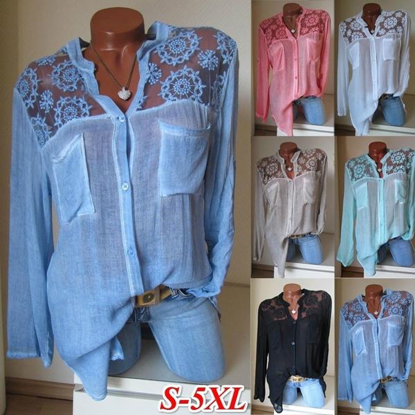 blouse, Plus Size, Lace, Women Blouse
