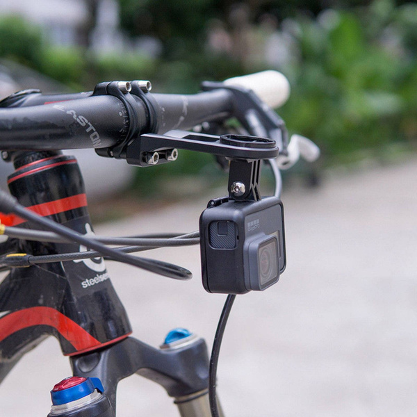 ZTTO Alloy Bike Stem Extension Computer Mount Holder For GARMIN Edge GPS GoPro