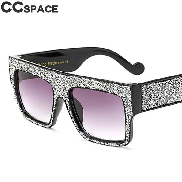 19f27888f3f94 Bling Diamond Sunglasses Men Women Luxury Clout Goggles Shades 2018 ...
