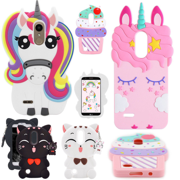 for LG-Tribute Dynasty Case, for LG-Zone 4 Case, for LG-Aristo 2 Case,Rebel  3 LTE / Risio 3/ Fortune 2 Ice Cream Phone Shell , 3D Cupcake Silicone
