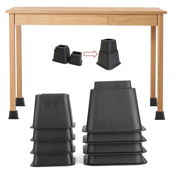 Sensational 8Pcs Bed Risers Set Chair Furniture Lift Blocks Elephant Feet Machost Co Dining Chair Design Ideas Machostcouk