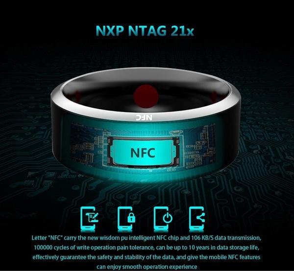 style de mode mieux aimé acheter pas cher 2018 Champion Bague intelligente multifonctionnelle imperméable  multifonctionnelle d'anneau de doigt d'usage de NFC