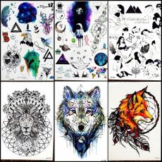 tattoo, tribalwolf, Waterproof, watercolortattoo