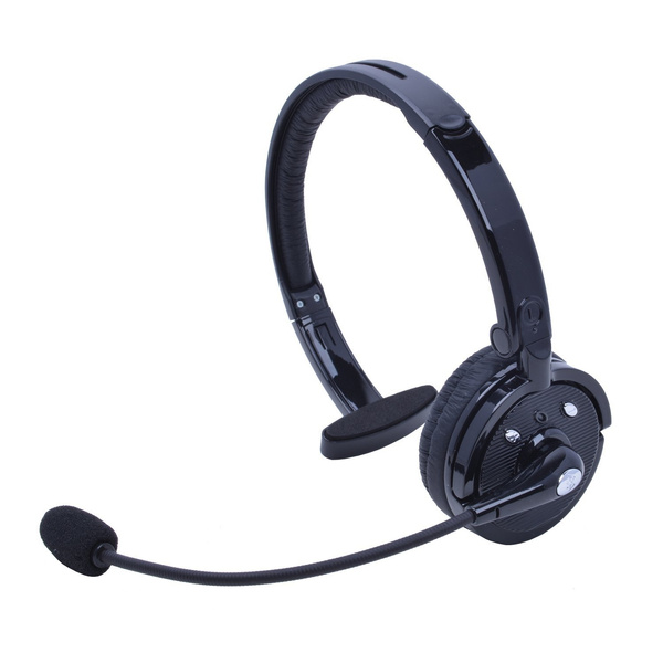 Bluetooth Headset With Mic Willful M10b Wireless Headset Hands Free Phone Headset Noise Cancelling Headphones Over Head Multipoint For Iphone Android Cell Phone Office Driving Truck Driver Call Center Wish