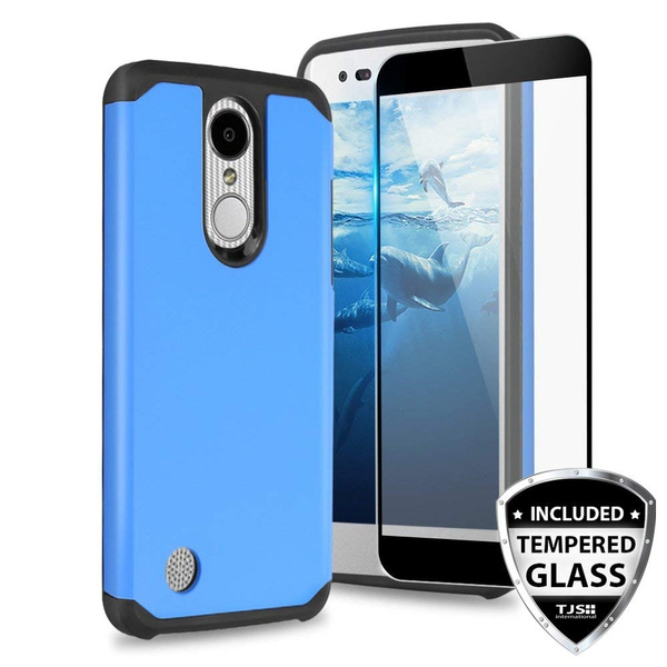 LG ARISTO 2 X 210 Case, LG Tribute Dynasty Case, LG REBEL 3 LTE Case, LG  Zone 4 Case, With TJS [Full Coverage Tempered Glass Screen Protector]  Hybrid