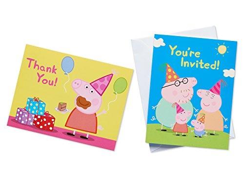 Wish american greetings girls peppa pig invite and thank you combo wish american greetings girls peppa pig invite and thank you combo pack8 count m4hsunfo