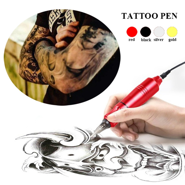 Rotary Tattoo Gun Kit Motor Tattoos Pen Supplies Tattooing Machine ...