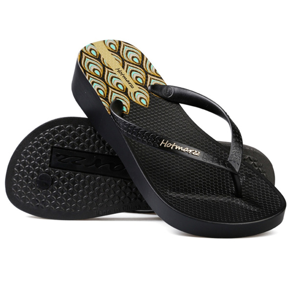 59c13995a Homarzz Women High Heel Platform Flip Flops Wedges Slippers Ladies ...