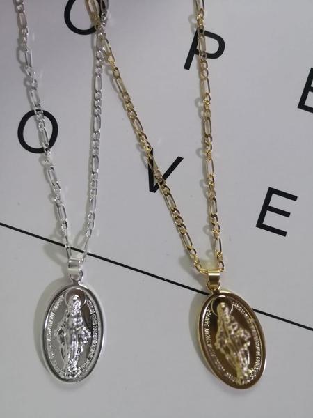 virginity, marynecklace, 18k gold, Christian