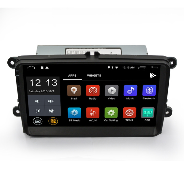Ezonetronics Android 9 Inch Car Radio StereoCapacitive Touch Screen High  Definition GPS Navigation Bluetooth USB Player 1G DDR3 + 16G NAND Memory