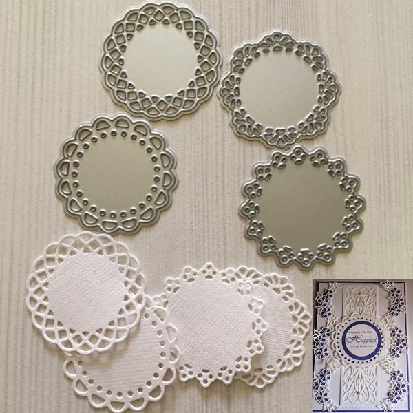 Steel Embossing Stencil Metal Cutting Dies Scrapbooking Card Lace Circle