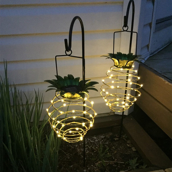 Wish | Garden Solar Lights Outdoor Decor, Pineapple Solar Path Lights  Hanging Fairy Lights, Dusk To Dawn Auto On/Off, Waterproof Solar Led Warm  Fairy String ...