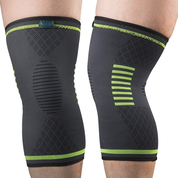 c940ee720e Sable Knee Brace Support Compression Sleeves, 1 Pair FDA Registered ...