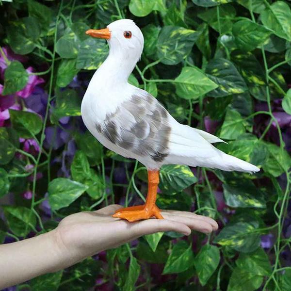 seagullstatue, seagulltoy, Garden, decoration