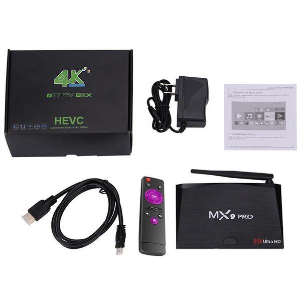 MX9 Pro 4GB RAM 32GB ROM Android 7 1 TV Box RK3328 Quad Core 2 4G/5G WiFi  Bt 4 1 kodi H 265 VP9 HDR 3D UHD 4K Media Player