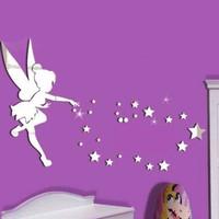 Disney Fairies Tinkerbell Kids Purple//Green Travel Pillow K311627