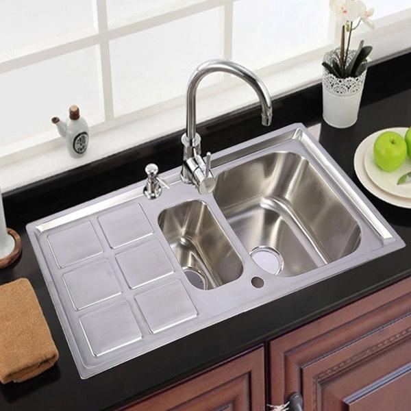 101x51x23cm Edelstahl Küchenspüle Spültisch Einbauspüle Waschbecken Küche