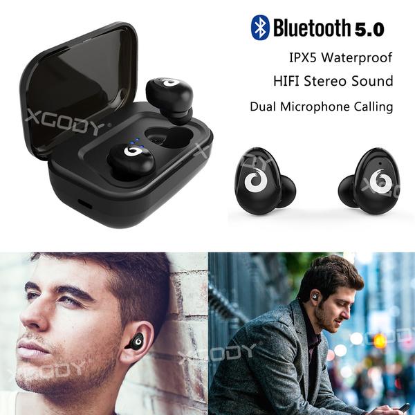 ecd10e7e860 Bluetooth 5.0 TWS Waterproof Wireless Earbuds Sport Headset HIFI Stereo  Headphone With Dual Microphone | Wish