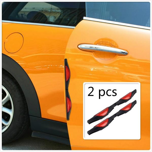 Car Door Protectors Red Reflectors Door Guards Prevent Scratches Protect Edges