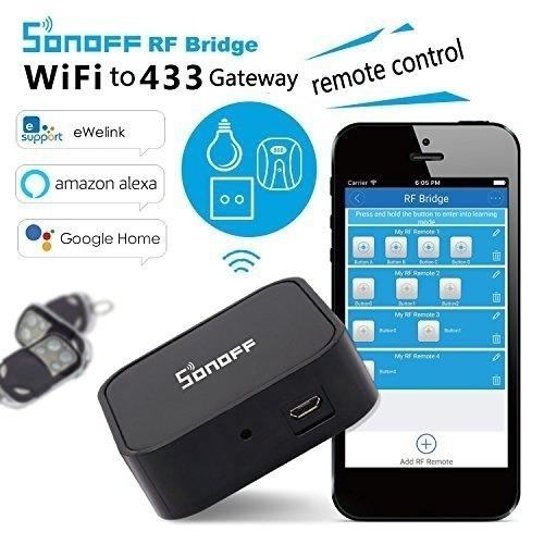Smart Home Security Automation Module Sonoff RF Bridge 433 Convert 433MHz  RF Remote To App Via WiFi Wireless Switch Timer (Not support rolling code