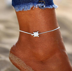 Sterling, Fashion, Anklets, Chain