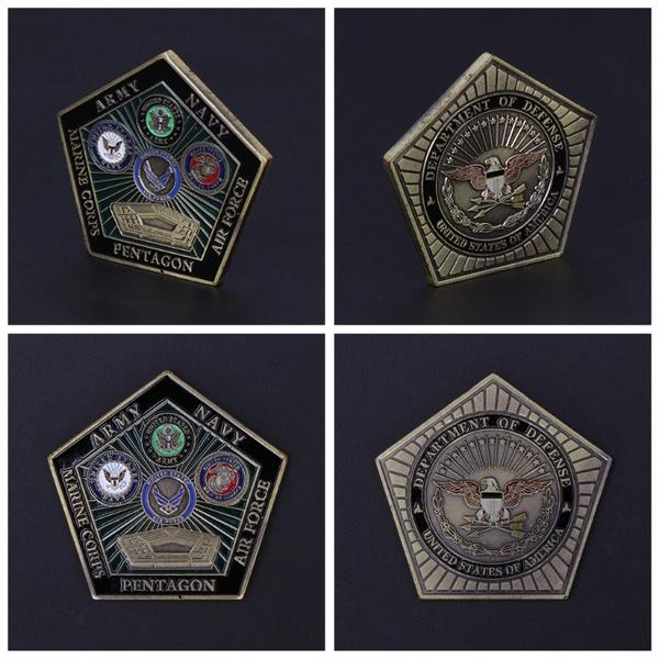 Commemorative Coin American Military Coin Naval Pentagon Souvenir Coins Collect