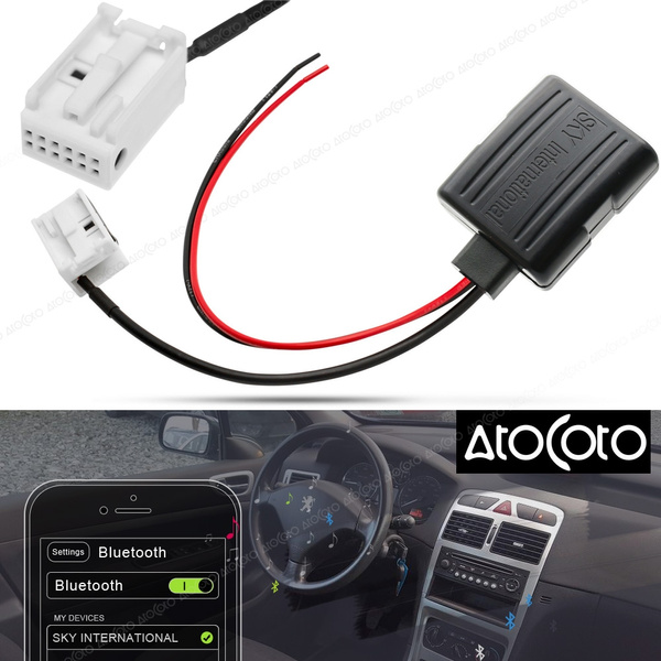 Car Bluetooth Module for Peugeot Radio Stereo Aux Cable Adapter Wireless  Audio Input for Citroen Blaupunkt/VDO/Bosch RD4
