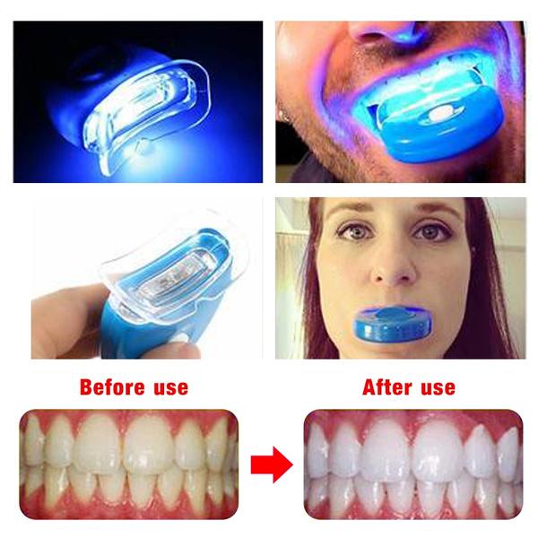 New Fashion Home Smile Teeth Whitening Kit Gel Bright White Dental Diagnostic Tool Oral Bleaching Led White Light Oral Gel Kit One Beauty Tooth Meter No Whitening Gel Wish