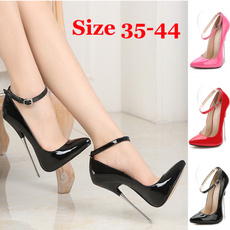 Plus Size, Stiletto, leather, Buckles