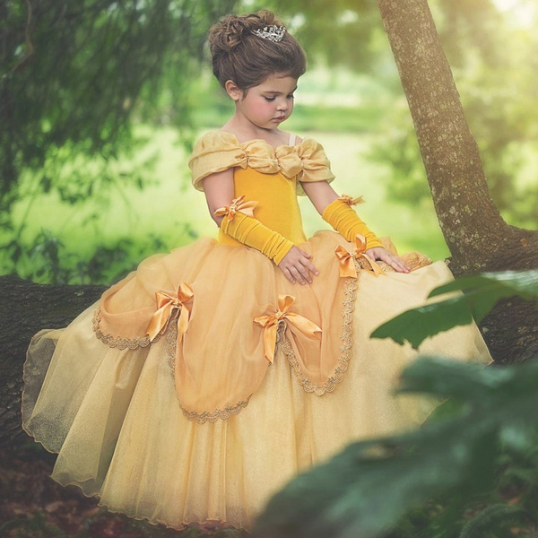 Wish | Princess Belle Halloween Beauty and the Beast Costume Fancy ...