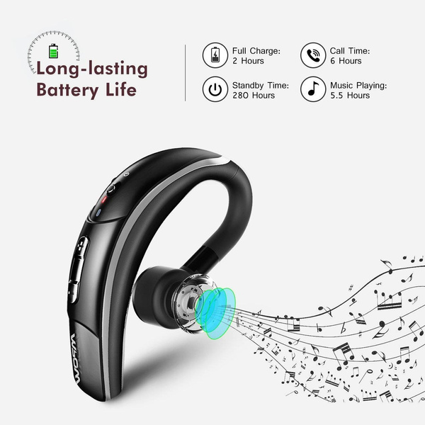 Mpow V4 1 Bluetooth Headset Wireless Earbud Headset With Microphone Car Bluetooth Headphones For Iphone Samsung Android 6 Hrs Playing Time Cell Phone Bluetooth Earpiece Formtech Inc Com