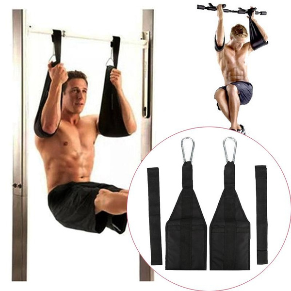 Sling AB Pull Up Straps Weight Lifting Door Hanging Gym Bar Abdominal Fitness