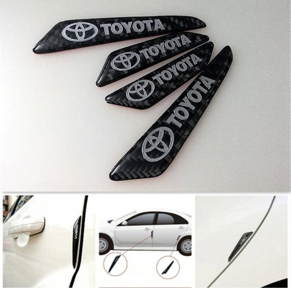4Pcs Car Door Protector Side Edge Protection Guard Trim Sticker Fits For Toyota