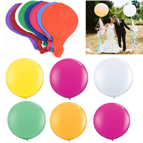Wedding Party Decoration Large Giant Oval Latex Big Balloon 6 X 36 inch 90cm