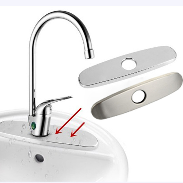 Bathroom Sink Hole Cover Kitchen Faucet Cover Chrome Decorated Plate Escutcheon