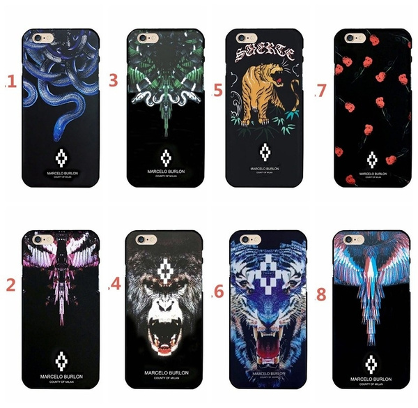 super popular 0ee8a b200f Fashion Slim For iPhone X Marcelo Case Hard PC Cartoon Funda for iPhone 8 7  6 6S Plus X Marcelo Burlon Cover For iPhone 8 Snake
