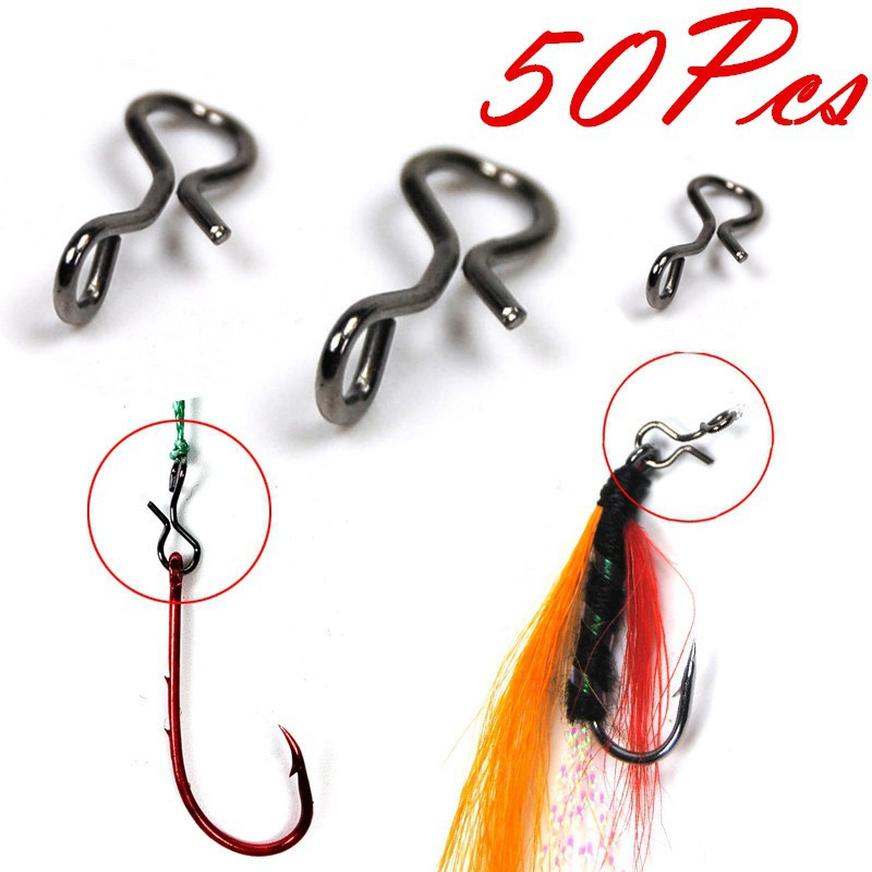 50//100pc Fly Fishing Snap Quick Change For Hook Lures Outdoor Hot Fishing J7M7